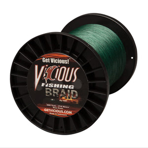 15lb Vicious Moss Green Braid - 3000 Yards