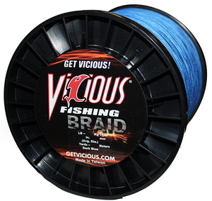 10lb Vicious Blue Braid - 1500 Yards
