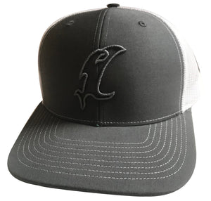 Vic Outline Adjustable Hat - Charcoal