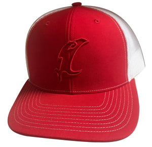 Vic Outline Adjustable Hat - Red