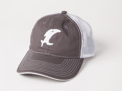 Vintage Charcoal/White Adjustable Hat