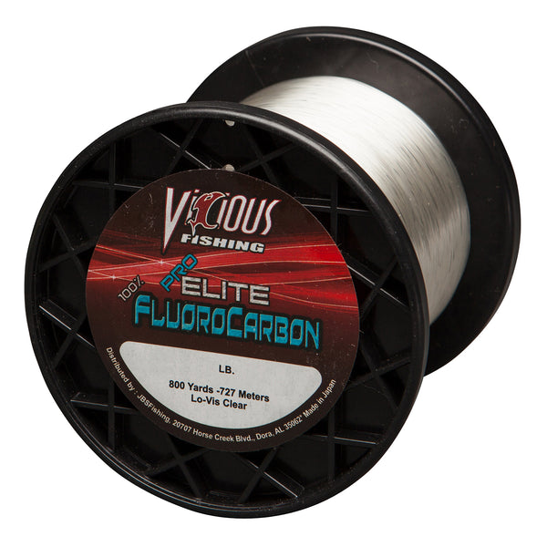 25lb Vicious Pro Elite 100% Fluorocarbon - 800 Yards