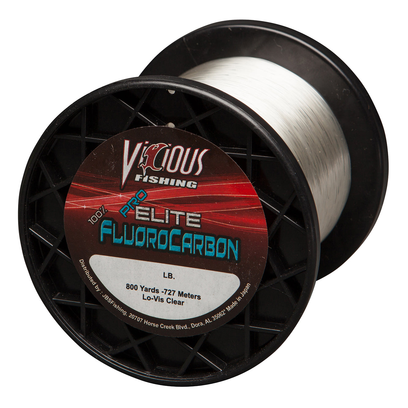 8lb Vicious Pro Elite 100% Fluorocarbon - 800 Yards