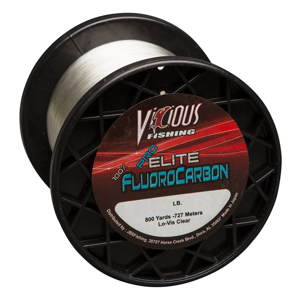 12lb Vicious Pro Elite 100% Fluorocarbon - 800 Yards