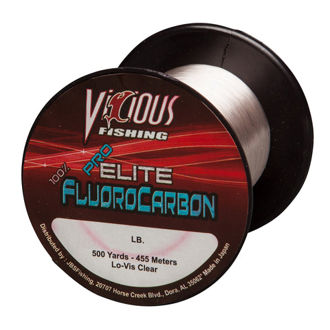 12lb Vicious Pro Elite 100% Fluorocarbon - 500 Yards