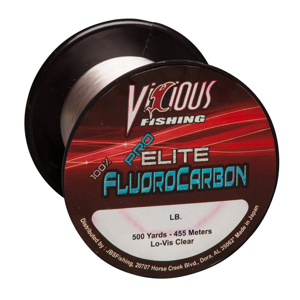 25lb Vicious Pro Elite 100% Fluorocarbon - 500 Yards
