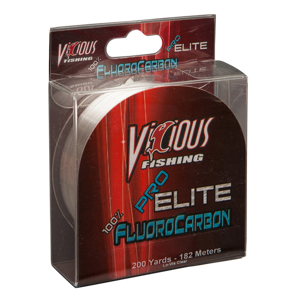 10lb Vicious Pro Elite 100% Fluorocarbon - 200 Yards