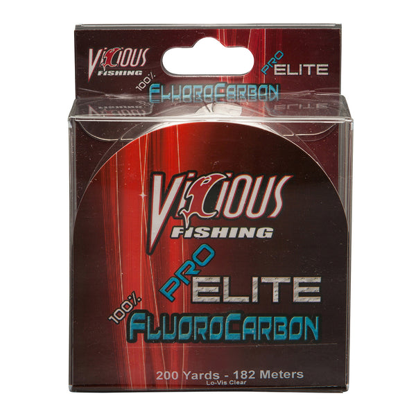 25lb Vicious Pro Elite 100% Fluorocarbon - 200 Yards