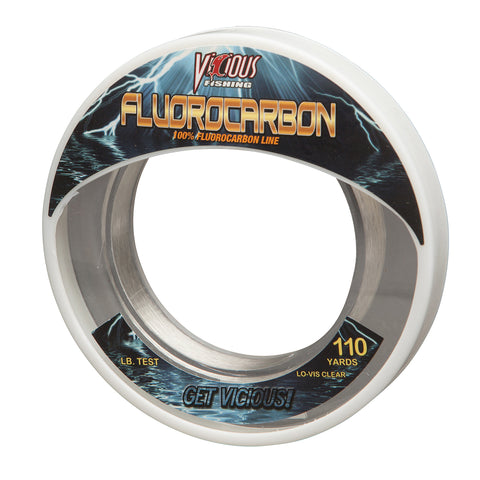 10lb Vicious Fluorocarbon Leader - 110 Yards