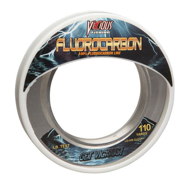 60lb Vicious Fluorocarbon Leader - 110 Yards