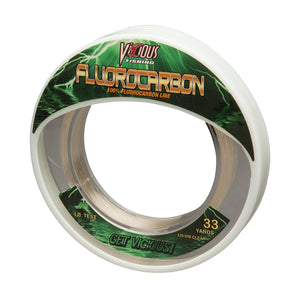 10lb Vicious Fluorocarbon Leader - 33 Yards