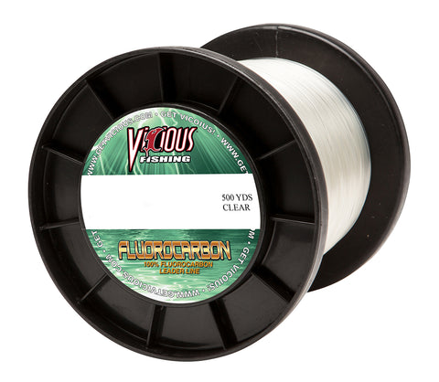 100lb Vicious Fluorocarbon Leader - 500 Yards