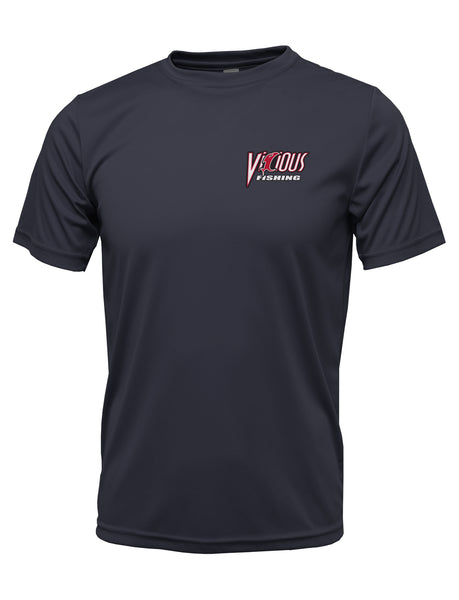 """Get Vicious"" SS Navy Performance Tee"