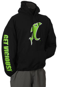 Lime Green Vic Black Hoodie
