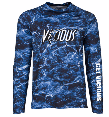 Vicious Mossy Oak Elements Marlin Long Sleeve Performance Tee (PRE ORDER ITEM)