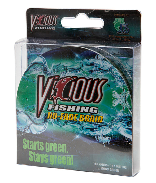 50lb Vicious Moss Green No-Fade Braid - 150 Yards