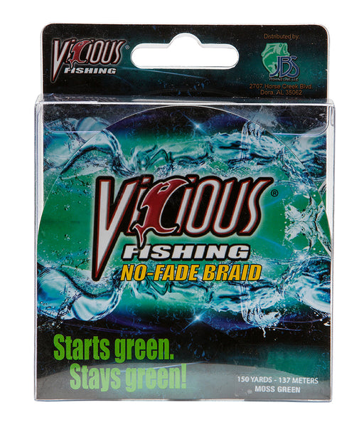 60lb Vicious Moss Green No-Fade Braid - 150 Yards