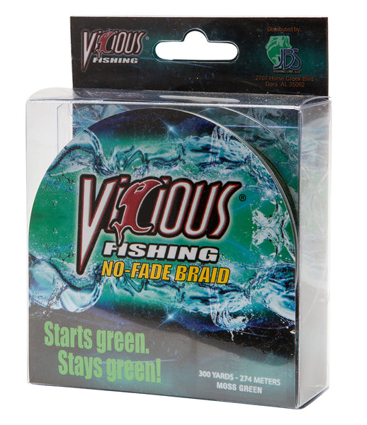 10lb Vicious Moss Green No-Fade Braid - 300 Yards