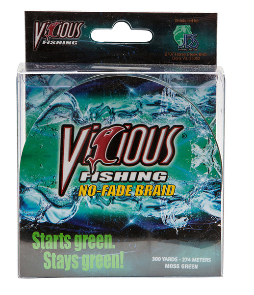 30lb Vicious Moss Green No-Fade Braid - 300 Yards