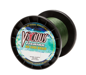 30lb Vicious Moss Green No-Fade Braid - 3000 Yards