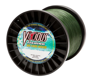 100lb Vicious Moss Green No-Fade Braid - 3000 Yards