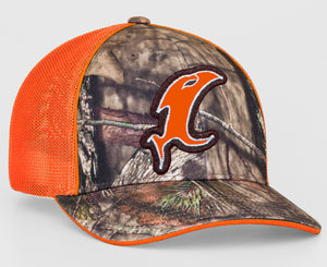Blaze Orange-n-Camo Fitted Hat