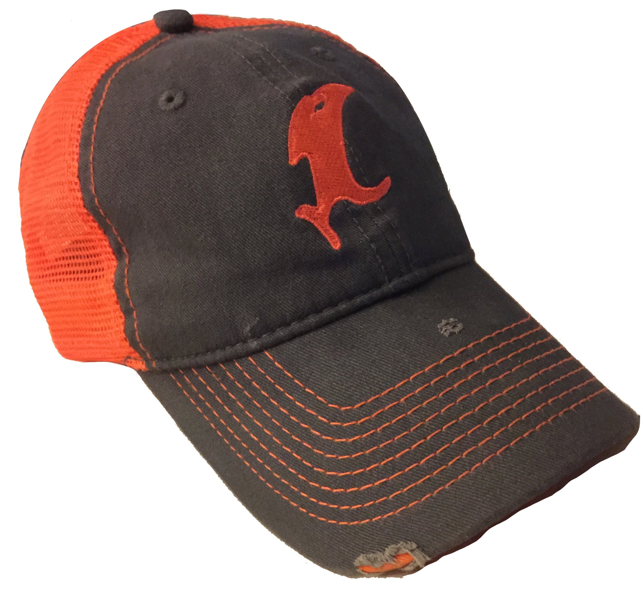 Vic Blaze Orange Distressed Adjustable Hat