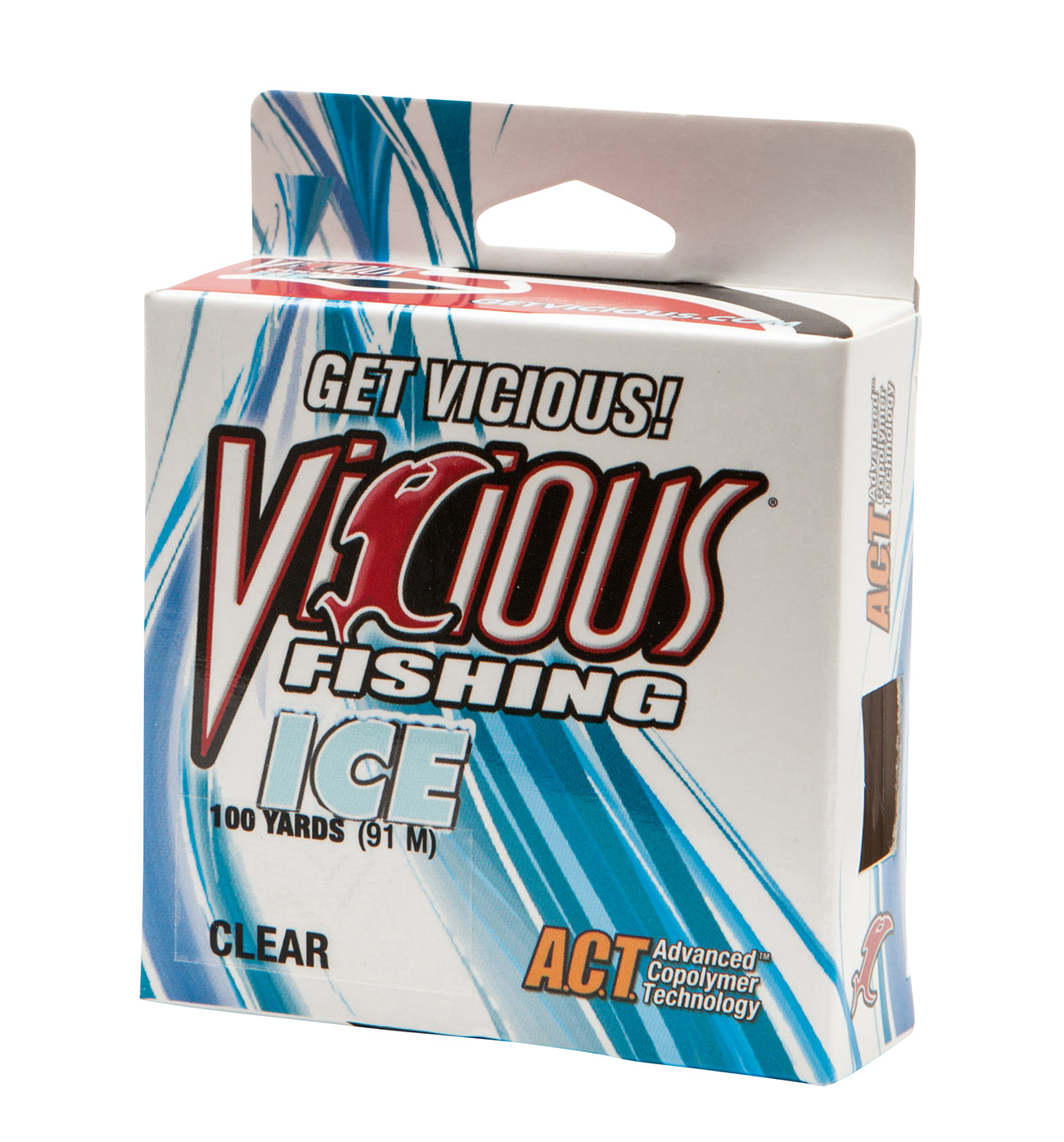 2lb Vicious Clear Ice - 100 Yards