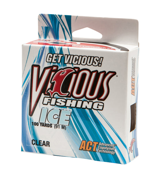1lb Vicious Clear Ice - 100 Yards