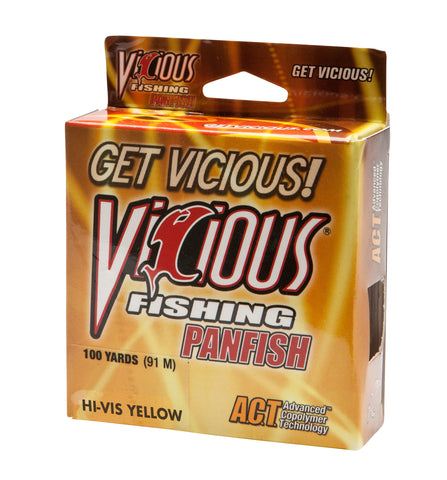 6lb Vicious Hi-Vis Yellow Panfish -  100 Yards