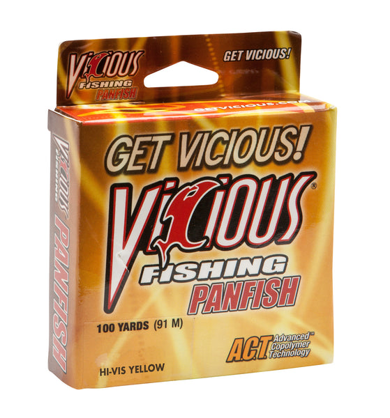 8lb Vicious Hi-Vis Yellow Panfish -  100 Yards