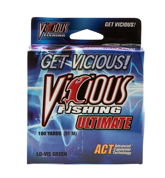 17lb Vicious Lo-Vis Green Ultimate - 100 Yards