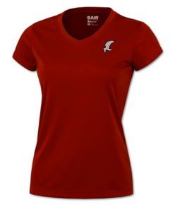 Vicious Ladies Red Performance Tee