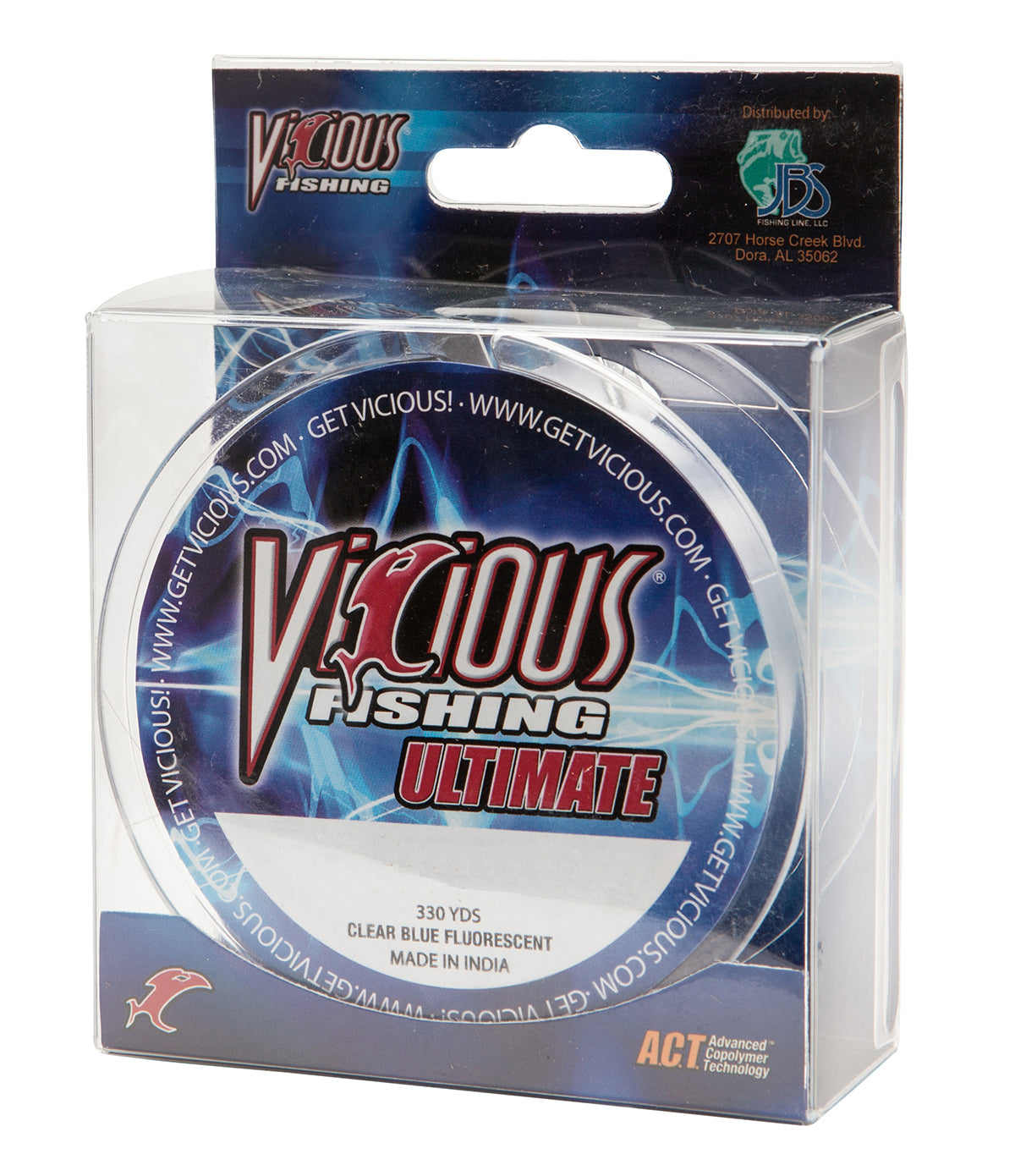 20lb Vicious Clear Blue Ultimate - 330 Yards