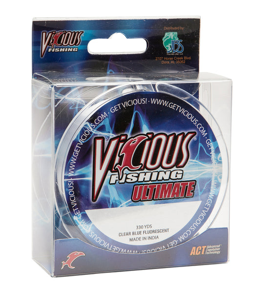 25lb Vicious Clear Blue Ultimate - 330 Yards