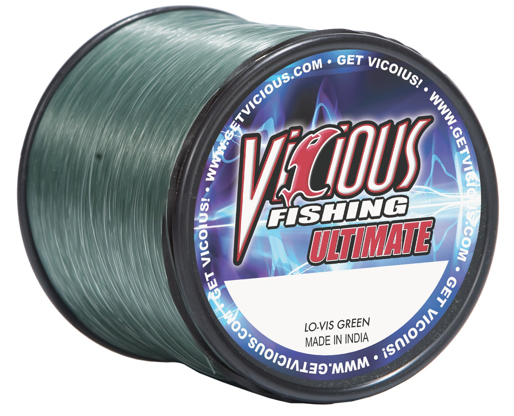 10lb Vicious Lo-Vis Green Ultimate - 1,500 Yards