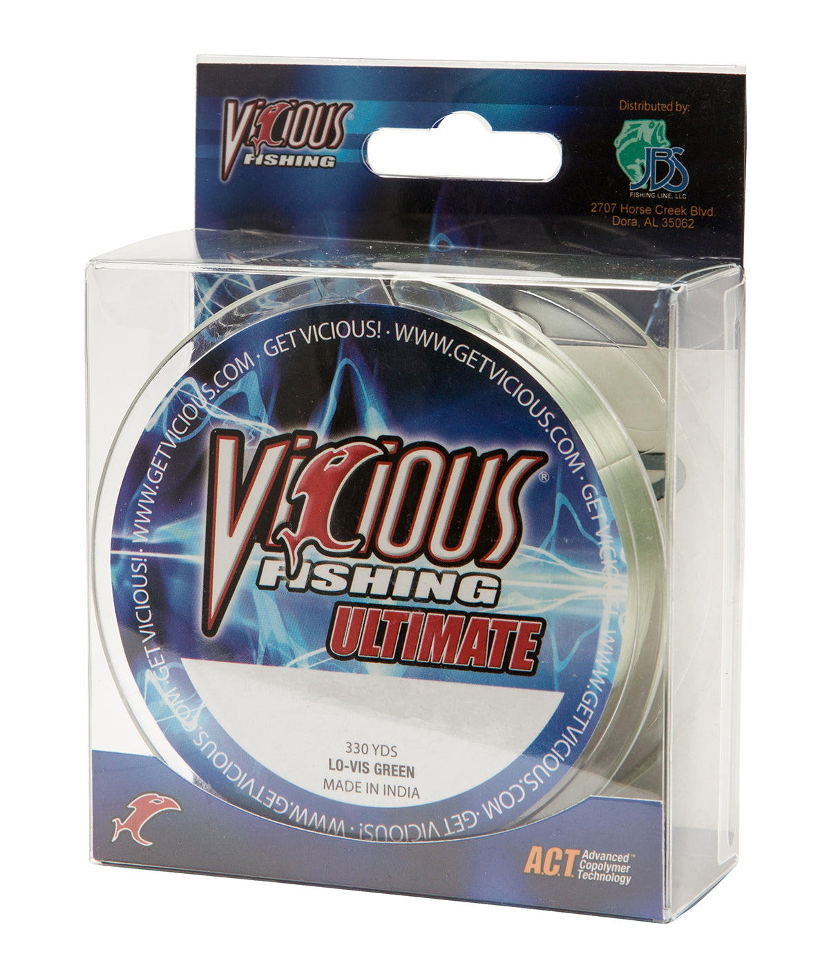 20lb Vicious Lo-Vis Green Ultimate - 330 Yards