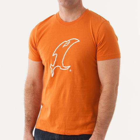Outline Vic Orange Cotton SS Tee