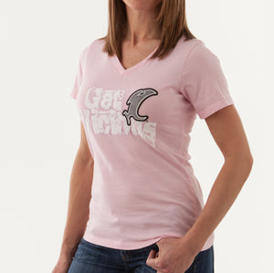 Vic Ladies Pink SS V-Neck Tee
