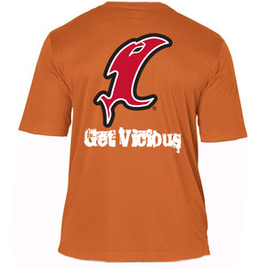 """Get Vicious"" SS Orange Performance Tee"