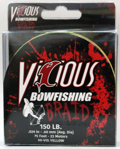 200lb Hi-Vis Bowfishing Braid - 75 Feet