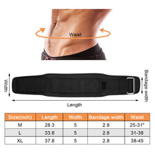 Weight Lifting Belt, Oodoland Unisex Nylon Pressure Weightlifting Belt with Velcro, Gym Fitness Back Support Belt for Men & Women, Squats, Lunges Deadlift, Thrusters & More Workouts ¨C Black