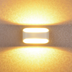 LED Aluminum Modern Wall Lamp for Bedroom Hallway Bathroom Wall Lamps Fixture Decorative Night Light For Pathway Bedroom, Kitchen, Dinning Room,Balcony warm white 5W 3000k