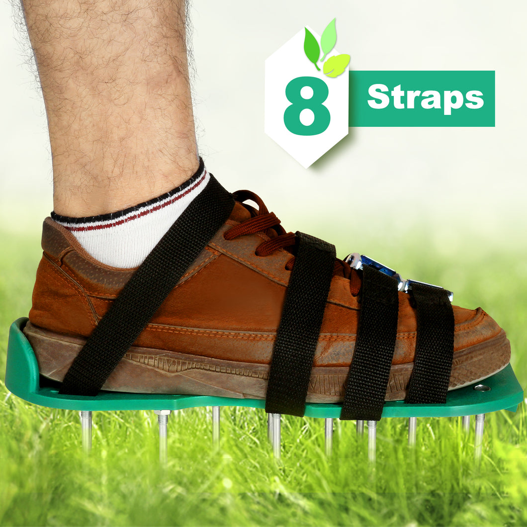 Treating aerate fertilize lawn soil-lawn aerator SHOES