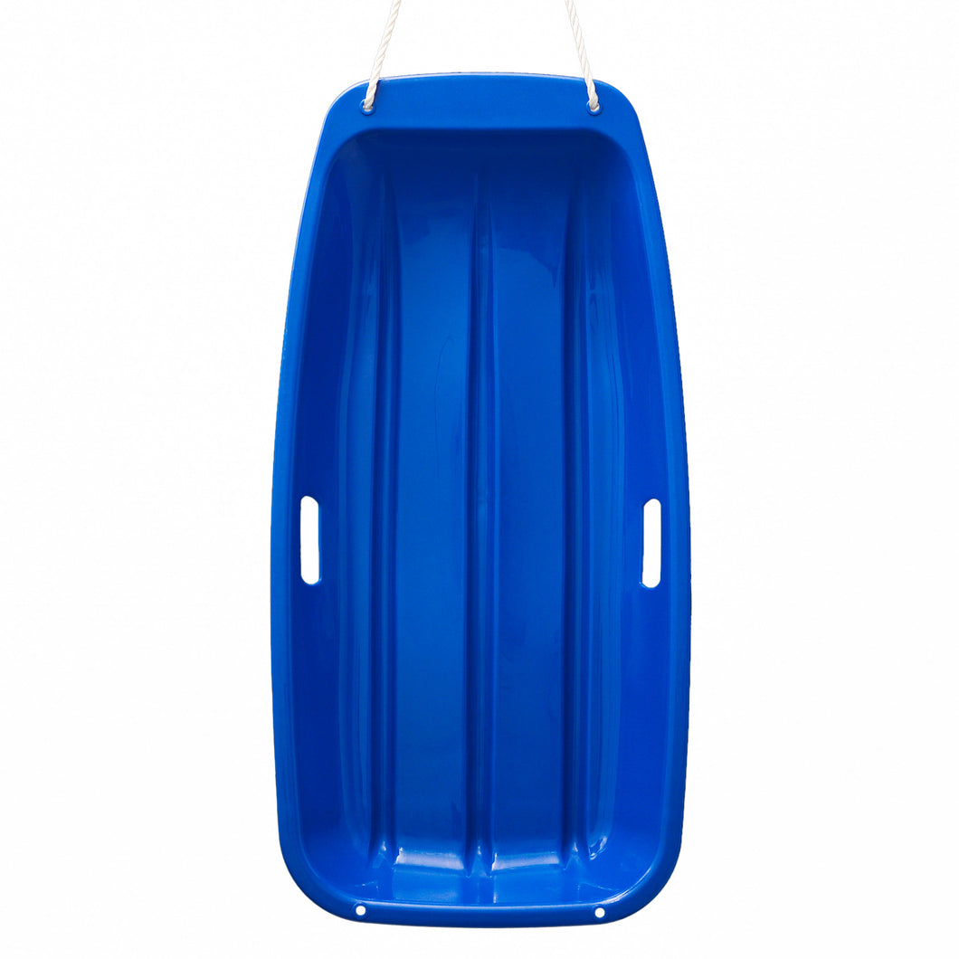 Winter durable Plastic snow Sled in boat shape Snow Sledge for child and adult Outdoor Pulling Snow board Snow Seats 89*43*10.8CM/35.*17*4.3 inch blue color