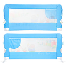 Odoland 59in Blue Swing Down Guardrail Baby Child Toddler Safety Bed Rail Foldable