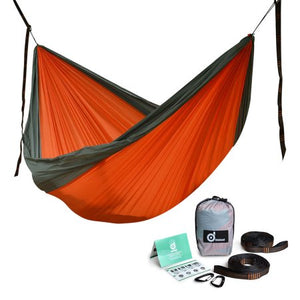 ODOLAND Double Large Camping Hammock Lightweight Portable Nylon Hammock for Backpacking Travel Beach Yard