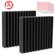 12 Packs Sound Proof Padding Soundproof Foams 12*12 *2 Inches Acoustic Foam Panels for Recording Studio TV Room Office