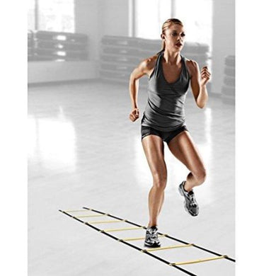 AGPtEK Durable 4-Meter 8-Rung Agility Ladder for Soccer, Speed, Football Fitness Feet Training