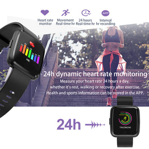 Waterproof Touch Screen Watch Heart Rate Sports Fitness Tracker